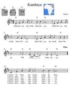 Three-Chord Song with Melody- Kumbaya -African