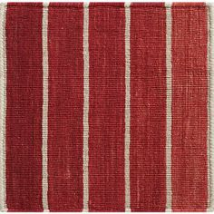 This wool-blend rug lines up an ombre array of attention-getting reds, separated by thin lines of neutral.