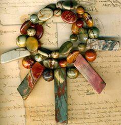 "Red Creek Jasper Beads 18"" Str Briolettes 8 12mm Rounds Ovals Natural Stone   eBay"
