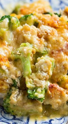 Broccoli Cheddar Chicken (Cracker Barrel Copycat) ~ Tender and juicy white meat chicken topped with broccoli and a cheesy sauce with Ritz crackers. This Cracker Barrel copycat is easy to make and will become a family favorite..