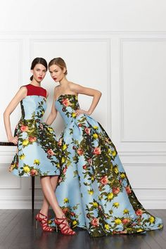 Let your bridesmaids be the #wedding flowers with these two lovely dresses by @HouseofHerrera