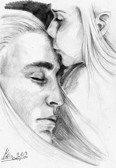 Young Legolas and his father Thranduil