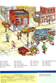 35 - THE CITY B - Picture Dictionary - English Study, explanations, free exercises, speaking, listening, grammar lessons, reading, writing, vocabulary, dictionary and teaching materials
