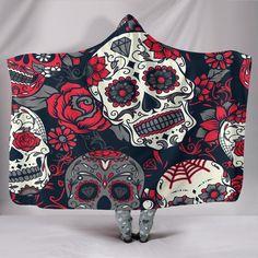 80aabd37e73d Sugar Skull Hoodie Blanket Skull Hoodie