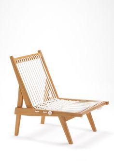 Riki Watanabe - Rope Chair, 1952, oak, cotton