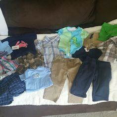 Mixed bundle of baby boy clothes Mixed sizes ranging from 3 to 18 months. Other