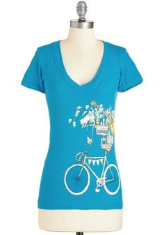 A Slew of My Favorite Things Top. Make a list of your favorite things, and we bet this graphic tee tops it! #blue #modcloth