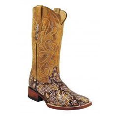 Ferrini Ladies Brown Print Python Boots S-Toe 90693-10