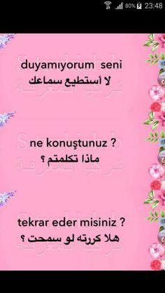 Learn Turkish Language, Arabic Language, Turkish Lessons, Study Skills, School Supplies, Activities, Education, Learning, Words