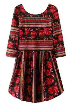 Floral Print Cropped Dress