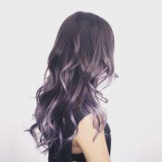 Metallic grey purple ombre
