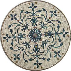 40-Handmade-Pattern-Art-Tile-Stone-Floral-Decor-Medallion-Marble-Mosaic