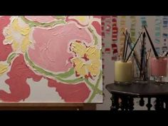 Paige paints Day Lilly from the Lilly Pulitzer spring 2012 line!