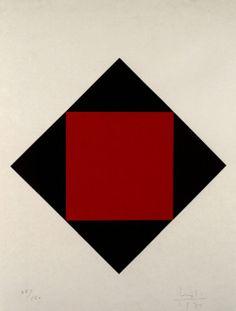 Max Bill, Swiss, 1971, Vibrations in the Dark, screenprint    found atalbrightknox.org, posted by ymutate