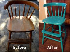 refurbished old child's chair