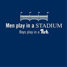 Yankee Stadium.....Fenway Park......LOL