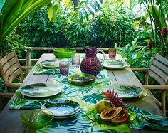 Colourful outdoor tableware – the Botanical Brights Edit from John Lewis
