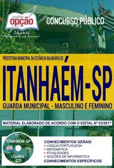 Nova Apostila Concurso Prefeitura De Itanhaem 2018 Guarda