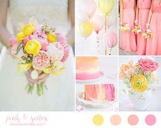 Matrimonio rosa e giallo