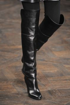 I have these neo-noir tall boots instead of pumps, Ralph Lauren great for tall athletic big legs.  NOT fat just bigger!!