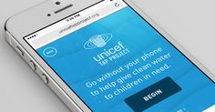 Put your phone down for a bit--for every minute you don't touch your phone, a sponsor from UNICEF can provide one day of clean water to a child in need