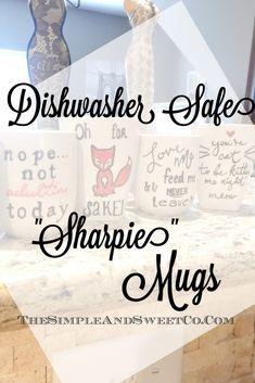 Sharpie Coffee Mugs, Sharpie Plates, Sharpie Pens, Diy Sharpie Mug, Sharpies, Sharpie Mug Designs, Oil Sharpie, Mug Crafts, Sharpie Crafts