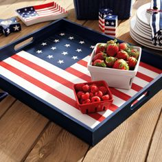Cute flag tray!