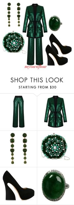 """""""YES DARLIN'"""" by myownflow ❤ liked on Polyvore featuring Rasario, Modern Alchemy, G-lish and Charlotte Olympia"""