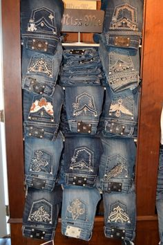 Having a ton of Miss me jeans <3