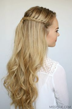long hair styles for party 27 amazing braid hairstyles for and other 5862 | 15ca8a9a59cb61e77dd0a020b5862b16 beach wave hair beach waves