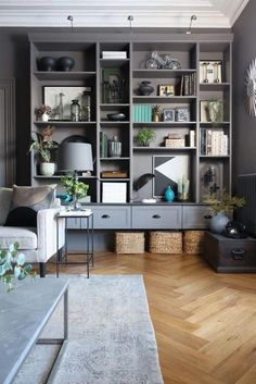 Living room after - Ikea Billy Bookcase Hack! What! #Livingroomideas