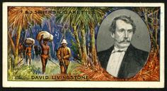 "https://flic.kr/p/992pyX | Cigarette Card - David Livingstone | Smith's Cigarettes ""Famous Explorers"" (series of 50 issued in 1911) #47 David Livingstone 1813-1873 ~ Scottish missionary and African explorer"