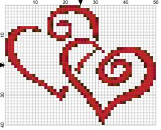 Hearts Entwined Needlepoint Chart for National Weddings Month. Hearts lovingly entwined are the subject of this free needlepoint chart to celebrate National Weddings Month on Day 52 of 365 Needlepoint New Year's Resolutions. Wedding Cross Stitch, Cross Stitch Heart, Cross Stitch Kits, Cross Stitch Designs, Cross Stitch Patterns, Needlepoint Patterns, Needlepoint Canvases, Cross Stitching, Cross Stitch Embroidery