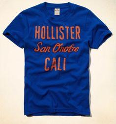 Camiseta Hollister Men's Ramona T-Shirt Blue #Camiseta #Hollister