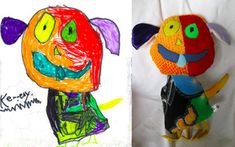 Brilliant idea! Children's drawings come to life as delightfully weird toys
