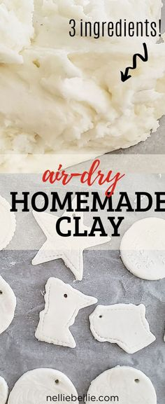 Clay Projects For Kids, Clay Crafts For Kids, Kids Clay, Air Dry Clay Ideas For Kids, Diy Crafts, Homemade Clay Recipe, Polymer Clay Recipe, Polymer Clay Crafts, Sculpey Clay
