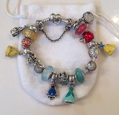 princess bracelet Disney Pandora Bracelet, Pandora Charms Disney, Disney Jewelry, Pandora Bracelets, Pandora Jewelry, Charm Bracelets, Hippie Style, Fashion Bracelets, Couture