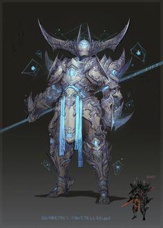 Some old GW2 armour, Carlyn Lim on ArtStation at https://www.artstation.com/artwork/VK1ob