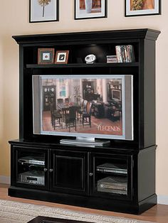 Forest Glenn Plasma 65 Inch TV Console/ TV Stand With Lighted Hutch