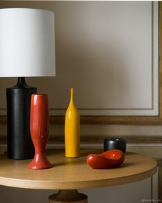 colorful pottery, table lamp