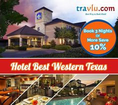 Hotel Best Western Texas. Book it through Travlu Hotels and get the best deals.  For more details visit :-http://bit.ly/1TO8iK8