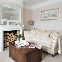 Traditional cream living room