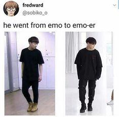 Emo-er is good. I like Emo-er Btob, Bts Bangtan Boy, Jimin, K Pop, Vixx, Jikook, Playboy, Bts Memes Hilarious, Bts Tweet