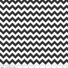 Black Chevron Fabric Small by Riley Blake Designs by GlamFabrics, $4.79