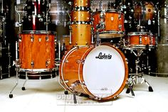 Ludwig Classic Maple 4pc Drum Set Quilted Makore
