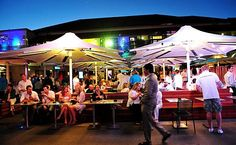 Enjoy a summer evening outdoors at a Beer Garden near the beach at Coogee Bay Hotel. Find more best places to watch the World Cup in Australia: http://pin.it/7HWwkkH