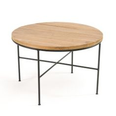 Mosaique Contemporary Coffee Table in Pine/Steel LA REDOUTE INTERIEURS This coffee table shows its contemporary side with the wonderful combination of varnished wood and its black steel legs, this fabulous table really. Studio Furniture, Living Room Furniture, Steel Coffee Table, Rattan Side Table, Contemporary Coffee Table, End Tables, Fashion Room, Design, Home Decor