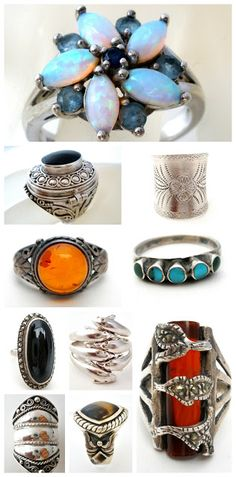 The Jewelry Lady's Store: Vintage & Antique Sterling Silver Rings