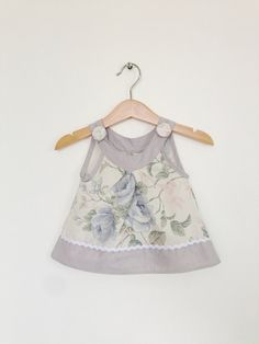 Baby girl top 612 months pretty pastels baby girl by ThisisLullaby, £20.00