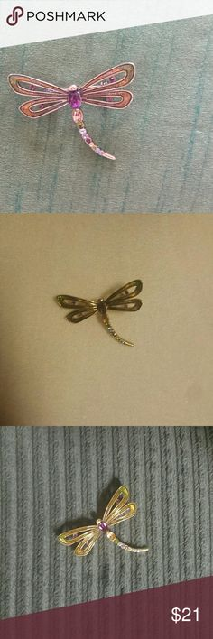 Monet Butterfly Brooch Pin This is a beautiful multicolored brooch pin with  bar pin back. The rhinestone colors are amethyst, light topaz, opal and violet. it measures 2 inches wide x 1 1/2 inches in length. Monet Accessories
